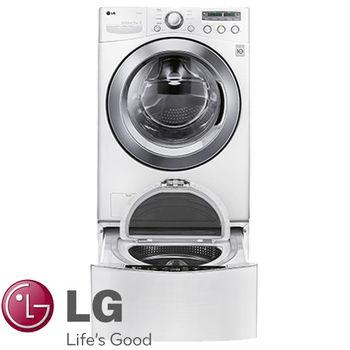 LG 樂金 雙能洗 17公斤蒸洗脫 滾筒洗衣機 炫麗白 +3.5公斤底座洗衣機 WT-D350W (WD-S17NBW TWINWASH)