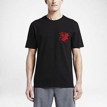 Hurley - FLORAL POCKET T恤 - 男(黑)