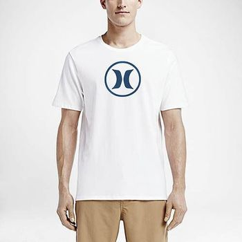 Hurley X Nike Dri-FIT 科技 - CIRCLE ICON DRI-FIT T恤-DRI-FIT - 男(白)