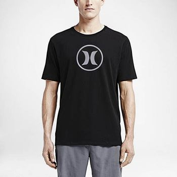 Hurley X Nike Dri-FIT 科技 - CIRCLE ICON DRI-FIT T恤-DRI-FIT - 男(黑)