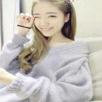 [協賀]馬海毛休閒寬鬆套頭毛衣