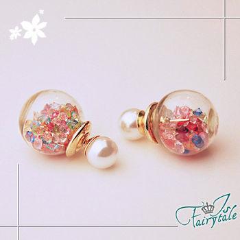 【伊飾童話】珍珠氣泡*兩搭大力丸耳環/彩色