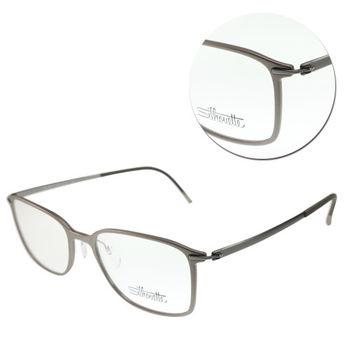 【Silhouette 詩樂】SPX全框灰色光學眼鏡-大版(SPX2881-61-6054)