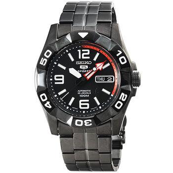 SEIKO 精工5號黑武士機械鋼帶腕錶-IP黑 / SNZJ01J1 (日本版)