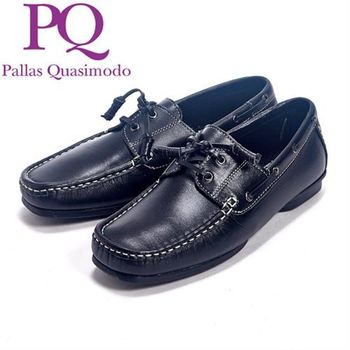 PQ 英倫風帆船設計休閒鞋男鞋-黑
