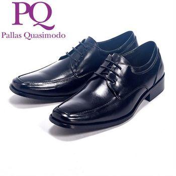 PQ 都會系列質感繫鞋帶皮鞋男鞋-黑