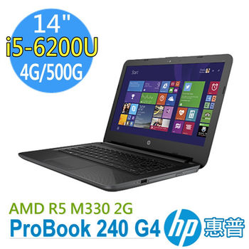 HP 惠普 ProBook 240 G4 14吋 i5-6200U AMD R5M330 2G 獨顯 500G 入門首選筆電