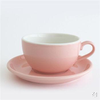 日本 ORIGAMI 摺紙咖啡陶瓷 拿鐵碗盤組 414ml (粉紅色)