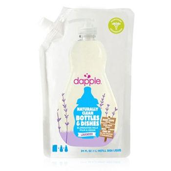 美國Dapple奶瓶及餐具清潔液-薰衣草1L(補充包)