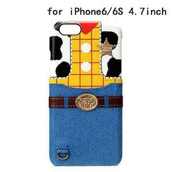 iJacket 迪士尼 iPhone 6/6s 4.7吋 皮革 可儲卡硬式保護殼 - 胡迪