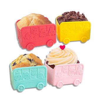 【MARCUS&MARCUS】動物樂園蛋糕模型-校車