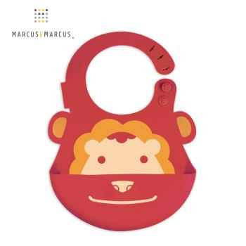 【MARCUS&MARCUS】動物樂園矽膠立體圍兜-獅子