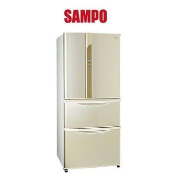 好禮送【SAMPO聲寶】560L變頻一級四門冰箱SR-LW56DD(Y1金)