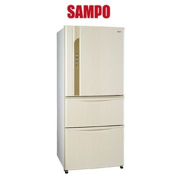 買就送【SAMPO聲寶】560L變頻一級三門冰箱SR-LW56DV(白W3)