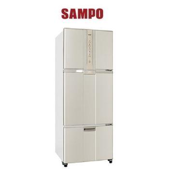 好禮送【SAMPO聲寶】455L智慧節能變頻一級三門冰箱SR-N46DV(金Y2)