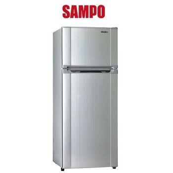 買就送【SAMPO聲寶】340L定頻節能雙門冰箱SR-L34G(S2)