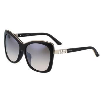 SWAROVSKI-方形水鑽 太陽眼鏡(黑色)SW90F