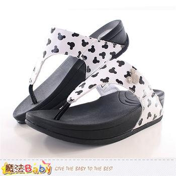 魔法Baby 成人女款涼拖鞋 迪士尼米奇正版時尚拖鞋~sh9818
