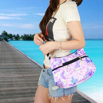 swansea 夏日繽紛斜背袋-粉紫