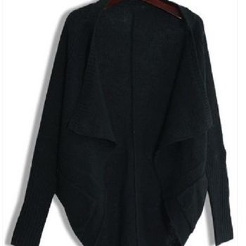 [協賀]蝙蝠袖披肩毛衣開衫