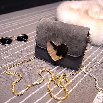 。DearBaby。一見傾心側背鏈袋小方包(共3色)*預購