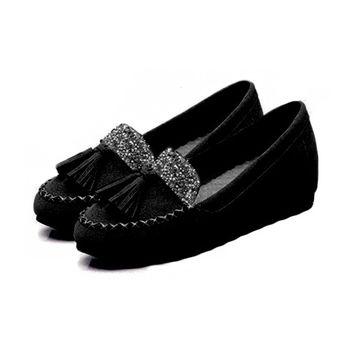 。DearBaby。俏皮水鑽流蘇學院莫卡辛鞋(共5色)*預購