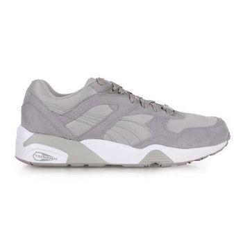 【PUMA】R698 男復古慢跑鞋- 路跑 灰白