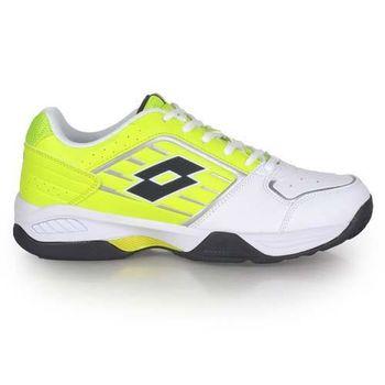 【LOTTO】男全地形網球鞋 螢光黃白