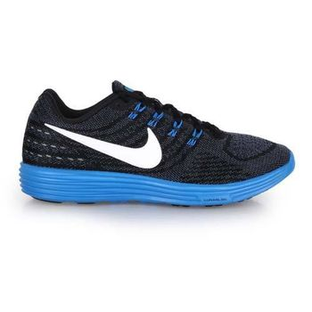 【NIKE】LUNARTEMPO 2 男慢跑鞋- 路跑 黑寶藍