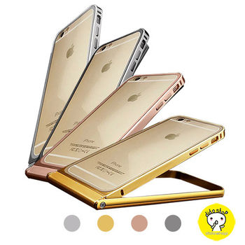 【Dido shop】iPhone 6 / 6S  手機保護殼 360度自拍旋轉金屬手機框 手機殼 手機框  (XN299)