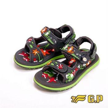 【G.P】可愛動物圖案童涼鞋童鞋-綠(另有桃)