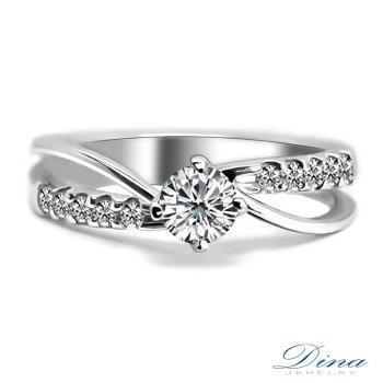DINA JEWELRY 蒂娜珠寶 GIA0.30克拉 F colour 鑽戒 求婚戒指