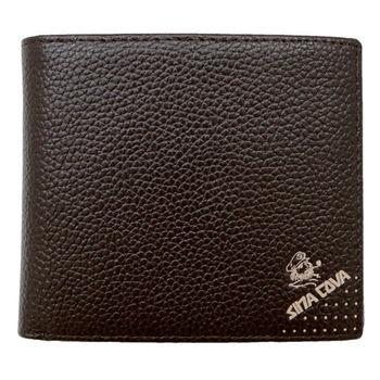 SINA COVA 老船長荔紋牛皮短皮夾SC31603-3-咖啡