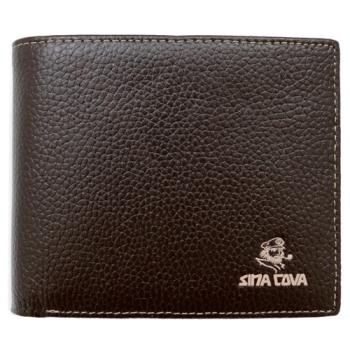 SINA COVA 老船長荔紋牛皮短皮夾SC31602-3-咖啡