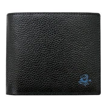 SINA COVA 老船長荔紋牛皮短皮夾SC31601-1-黑