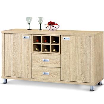 【MY傢俬】木紋簡約5尺餐櫃