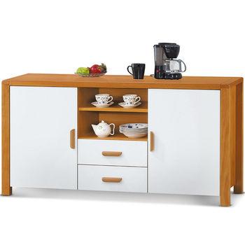 【MY傢俬】鄉村風收納木色5尺餐櫃