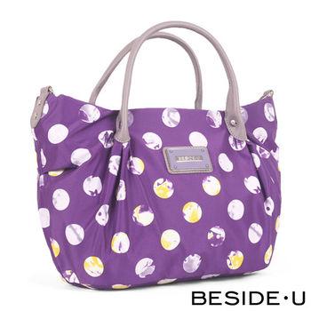 BESIDE-U - Retro Wonderland系列摩登綺麗手提側背包 - 魔幻紫