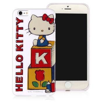 GD iPhone 6/6s Plus 5.5吋 Kitty 保護套-復古積木