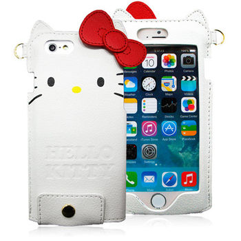 GD iPhone 6 / iPhone 6s Kitty蝴蝶結皮革保護套