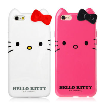 GD iPhone 6 / iPhone 6s Kitty立體蝴蝶結保護套