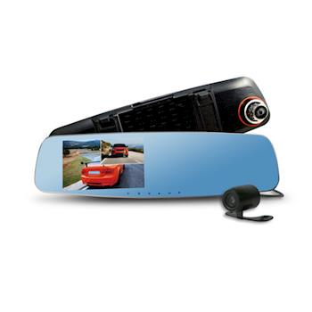 CARSCAM行車王 CR10 190度WDR雙鏡頭行車記錄器 贈送16G記憶卡