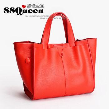 【88Queen❤包包女王】真皮★時尚多用途子母包-紅色