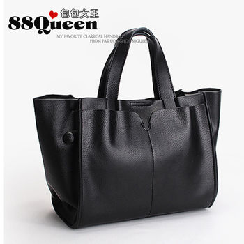 【88Queen❤包包女王】真皮★時尚多用途子母包-黑色