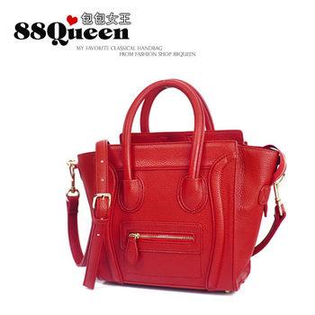 【88Queen❤包包女王】正韓空運★時尚經典笑臉包/囧臉包-紅色