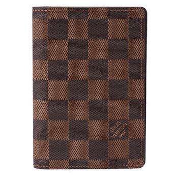 LV N60189 經典Damier棋盤格萬用名片夾(咖啡)