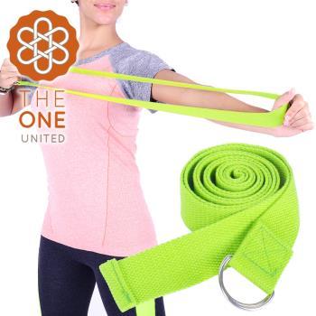 【The One】純棉瑜珈輔助拉力帶/瑜珈繩/伸展帶(綠色)