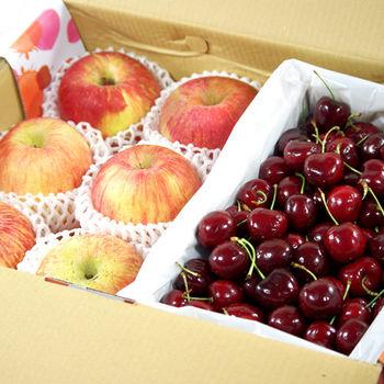 【鮮果日誌】夏季王牌禮盒組(智利蘋果6入+美加櫻桃2.5台斤)