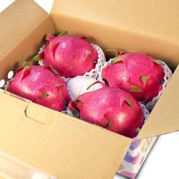 【鮮果日誌】白肉 紅龍果/火龍果 (4入禮盒裝)