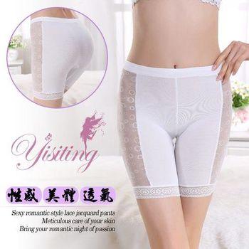 草莓牛奶 -雕塑曲線速蕾絲美體宿褲-大碼﹝白﹞